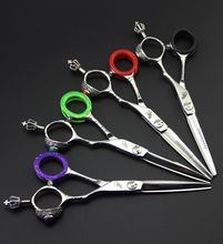 Freelander 6.0 inch Styling Hair Scissors With Crown Handle Professional High Quality Solon Barber Hairdressing Scissors new design purple gem 7 inch hairdressing scissors faucet handle hairdresser professional hair styling tool high quality salon