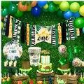 И надписью «Wild One» для детей 1st День рождения воздушные шары джунгли для вечеринки в стиле сафари лесное украшение для первого дня рождения с...