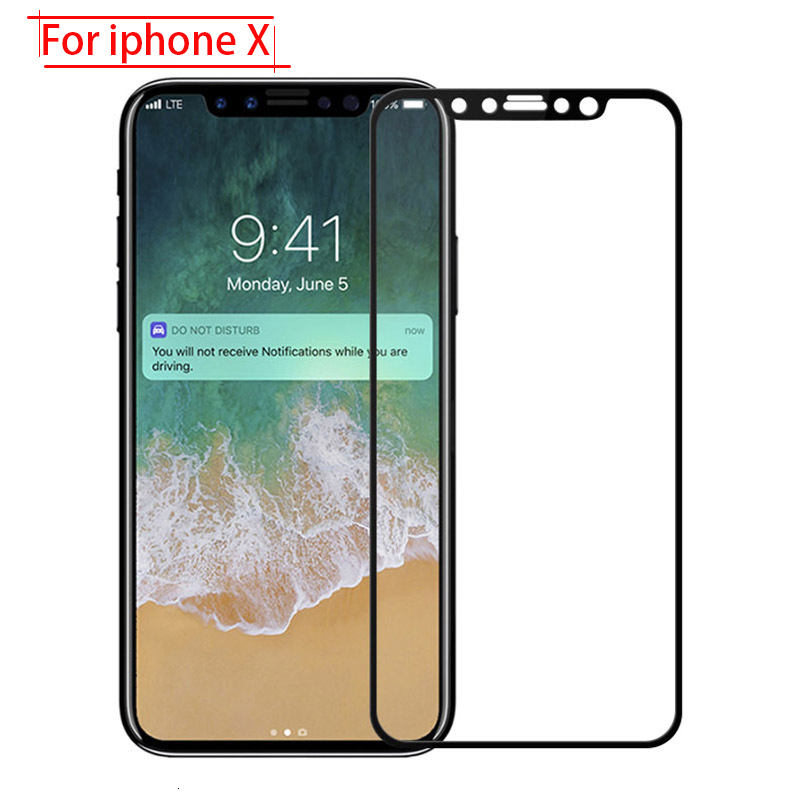 protective glass for iphone x protection on the for apple i phone iphonex 10 iphone10 i10 ix tempered glas screen protector film(China)