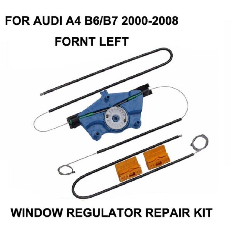 NEW!CAR PARTS FOR AUDI A4 B6/B7 ELECTRIC WINDOW REGULATOR REPAIR KIT FRONT LEFT N/S 2000 2001 2002 2003 2004 2005 2006 2007 2008