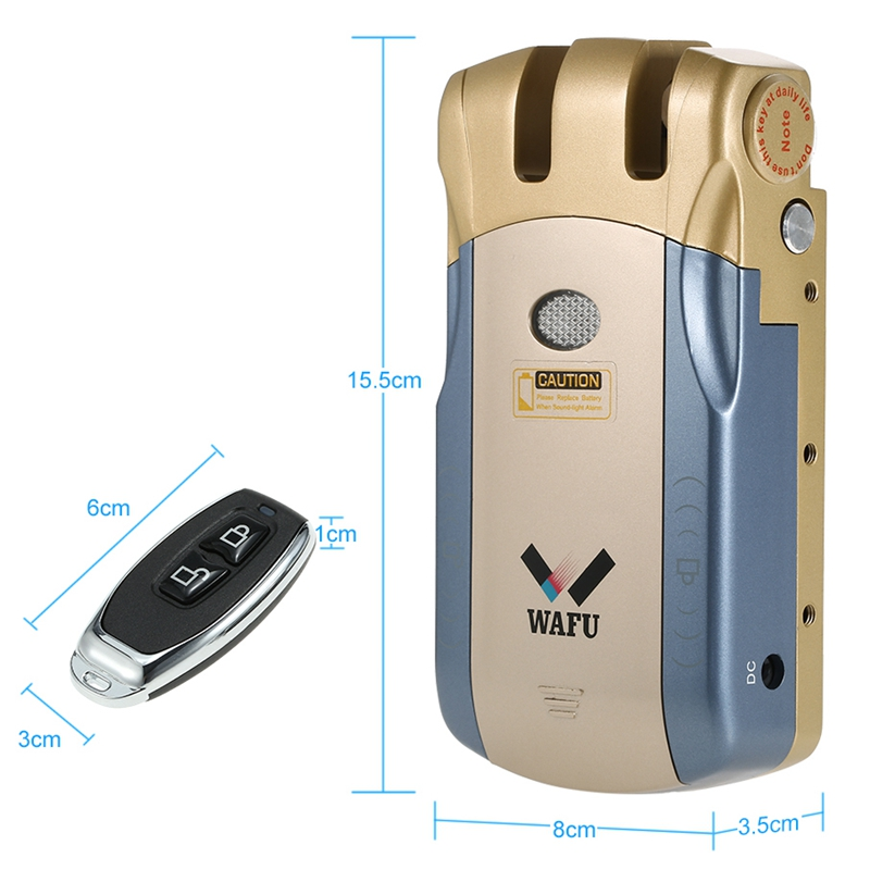 ABKT Wafu Wf 010A Draadloze Beveiliging Onzichtbare Keyless Entry Deur Intelligente Lock Ios Android App Unlocking Met 4 Remote Keys G - 5