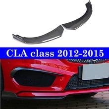 купить Front Lip Carbon Splitters Fender Aprons For Benz CLA Class W117 C117 CLA250 CLA260 CLA45 2012-2015 дешево