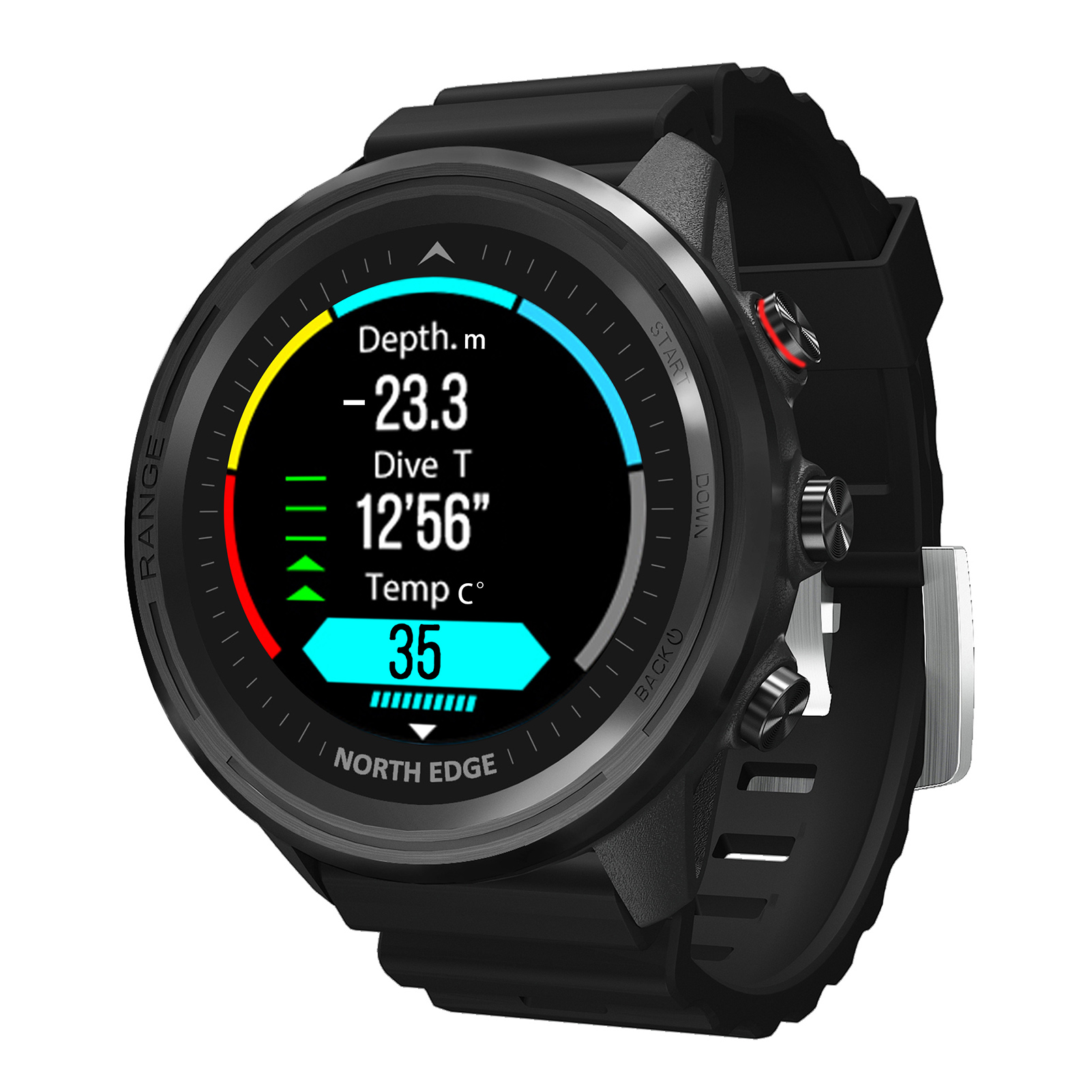 Permalink to NORTH EDGE Range5 GPS Outdoor Smart Sports Waterproof Watch Barometric Compass Temperature Bluetooth Heart Rate Diving Watch