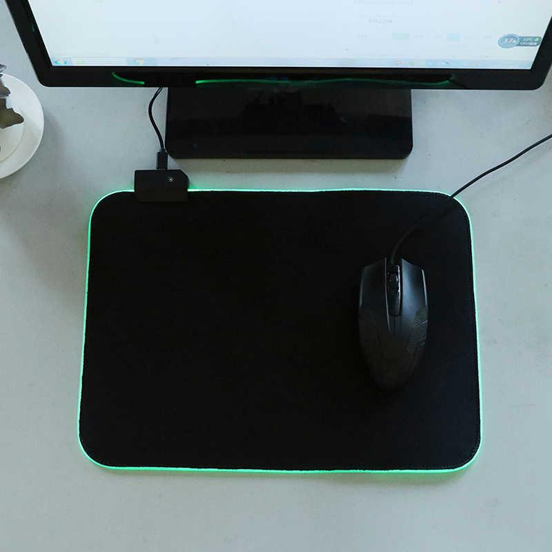 Rgb ゲーミングマウスパッド特大グローイング Led 拡張イルミネーション Usb キーボード厚くするカラフルな発光ラップトップ Pc 用デスクトップ