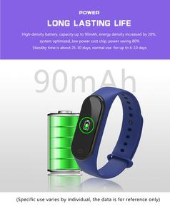 Image 5 - Bande intelligente 4 IP67 étanche 5 couleurs Bracelet intelligent écran de bande fréquence cardiaque Fitness musique Bluetooth moniteur de fréquence cardiaque
