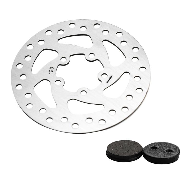 120mm Rear Wheel Brake Disc + 2 Pcs Brake Pads Kit For Xiaomi Mijia M365 Electric Scooter Skateboard Parts