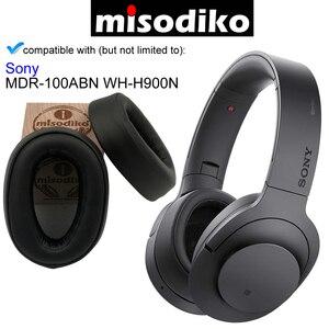 Image 3 - Misodiko kit de almofadas para substituição da orelha, para sony h.ear on MDR 100ABN WH H900N WH H900, peças de reparo de fones de ouvido capa
