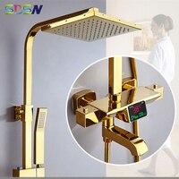 Oferta https://ae01.alicdn.com/kf/H70fa1cdeb11b4404bac0e0a9bf346871b/Juego de ducha themostática SDSN sistema de ducha Digital de latón dorado Sistema de ducha de.jpg