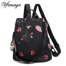 Vfemage çok fonksiyonlu sırt çantası kadın Oxford sırt çantası kadın Anti hırsızlık sırt çantası okul çantaları genç kızlar için kese Dos Mochila