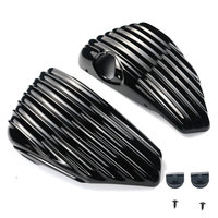 Black Motorcycle Left&Right Side Oil Tank Battery Cover Fairing Guard For Harley Sportster XL1200 XL883 2014 2015 2016 2017
