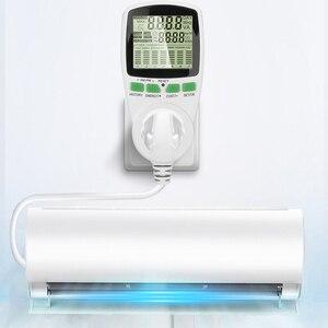 Image 5 - Kebidu euプラグデジタル液晶ソケットエネルギー電気パワーメータ電力計ワット数kwh電圧電流計