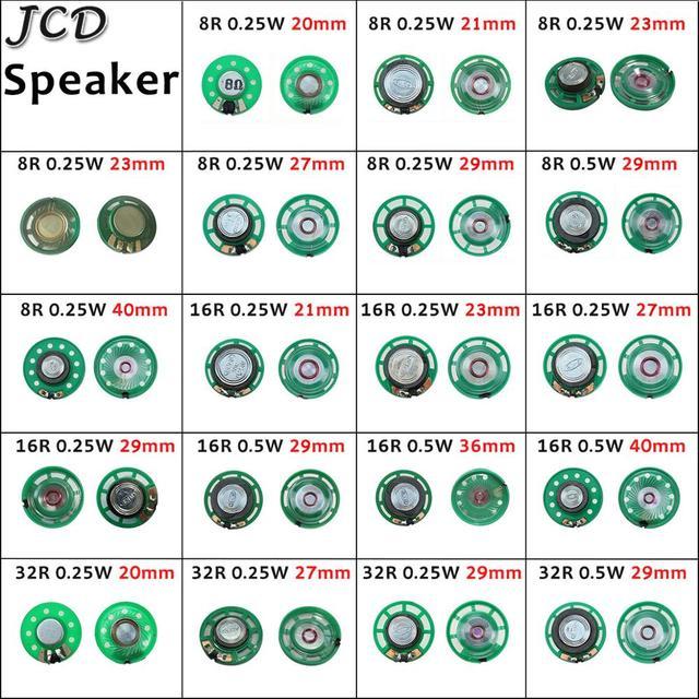 jcd 1 шт новый зеленый ультратонкий мини динамик 32 16 8 ом фотография