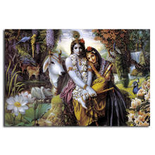 Алмазная картина 5d с полным покрытием инду Бог Радха Кришна