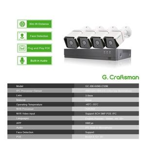 Image 2 - Xm顔検出4CH 5MP poe ipカメラシステムキットオーディオ防水cctvセキュリティビデオ監視H.265 + xmeyeグラム。職人
