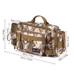 Image 5 - 방수 낚시 가방 다기능 낚시 태클 가방 물고기 도로 릴 루어 후크 스토리지 어깨 가방