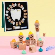 Holz Baby Zahn Box Milch Zähne Organizer Lagerung Sammlung Junge Mädchen Souvenir Fall Infant Kid Nette Geschenke für Kinder Andenken