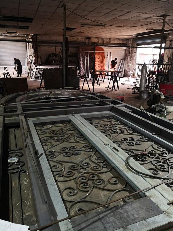 Shanghai Hench Brand China Factory 100% Custom Made Sale Australia Wrought Iron Entry Doors