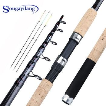 цена на Sougayilang Feeder Fishing Rod Telescopic Spinning Travel Rod 3.0m 3.3m 3.6m Carbon Fiber Fishing Pole Carp Fishing Tackle Pesca