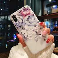 Funda blanda para Xiaomi Mi A1 A2 Mi8 lite Mi 9T, funda para Redmi 5A 6A 7A 8A Note 5 6 7 8 S2 Go K20 Pro, funda blanda de silicona 3D con flor en relieve