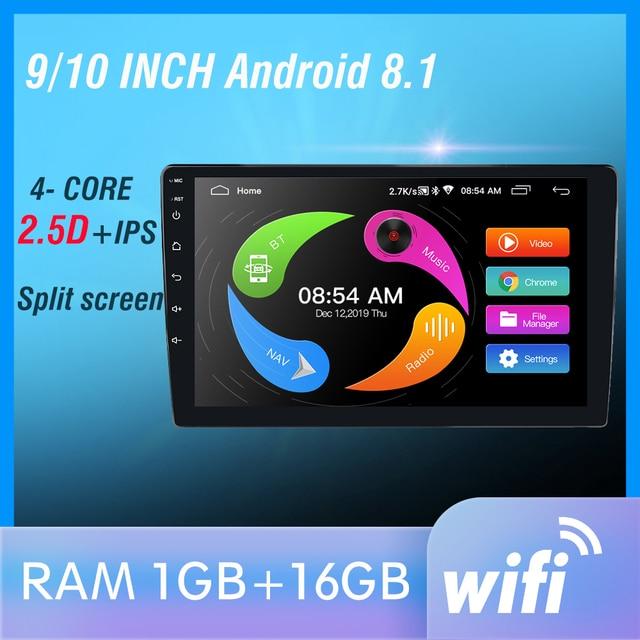 "9 ""dokunmatik Mirrorlink Oto ses Çalar Bluetooth USB DVR Arka Görüş Kamerası 2din araç radyo MP5 Player Tek Din autoradio Hiçbir Android"