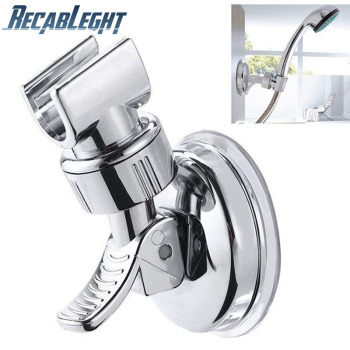 Universal Adjustable Hand Shower Holder Suction Cup Holder Full Plating Shower Rail Head Holder Bathroom Bracket Stable rotation on AliWatcher