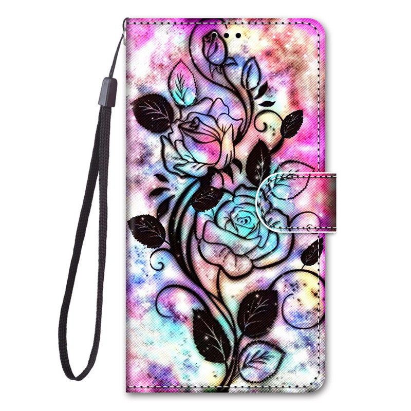 Luxury Painted Case For LG K30 K20 X2 2019 Q70 K40S Cover Cute Fashion Flip Leather Coques For LG K50S K50 S K 50S Phone Cases