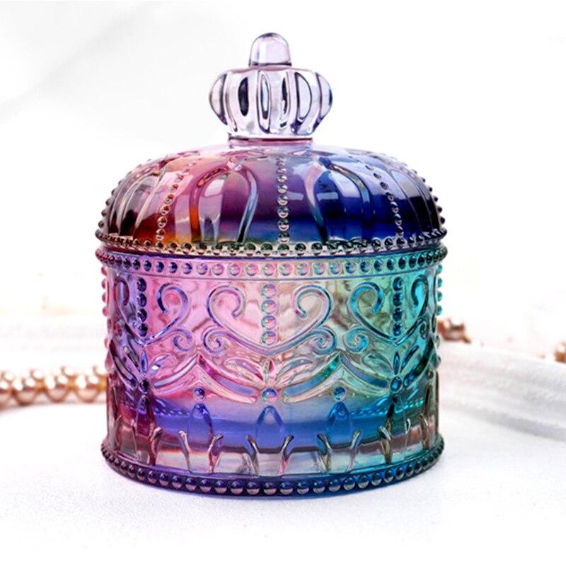 DIY epoxy crystal resin cosmetic storage box jewelry box mirror transparent epoxy resin silicone mold decoration crafts