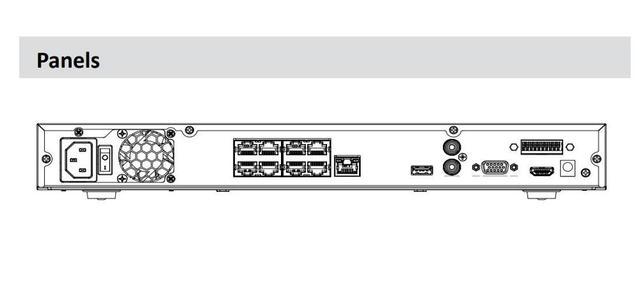 Dahua 8 CH NVR 1U 8 Ports PoE enregistreur vidéo réseau AI 2 HDD intelligent H.265 + jusquà 12 images de visage NVR4208-8P-I pour caméras IP