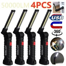Tragbare 5 Modus COB Taschenlampe Taschenlampe USB Aufladbare Arbeit Licht Magnetische Hängenden Haken Lampe für Outdoor Camping Reparatur Auto