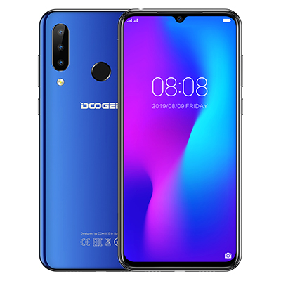 DOOGEE N20 16MP Triple Rear Camera Mobile phone Fingerprint 6.3 inch FHD+ Display 64GB 4GB MT6763 Octa Core 4350mAh smartphone