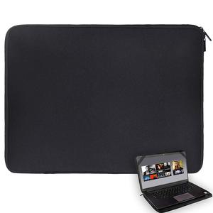 "17"" Solid Black Laptop Notebook Sleeve Bag Waterproof Neoprene Case with 4 Strps For 17.3 17.4"" HP Dell Acer Lenovo Toshiba PC(China)"