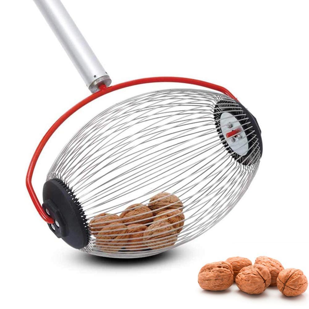 Garden Fruit Picker Chestnuts Harvester Long Retractable Aluminum Alloy Boom Golf Balls Fruit Walnut Catcher Picking Tool