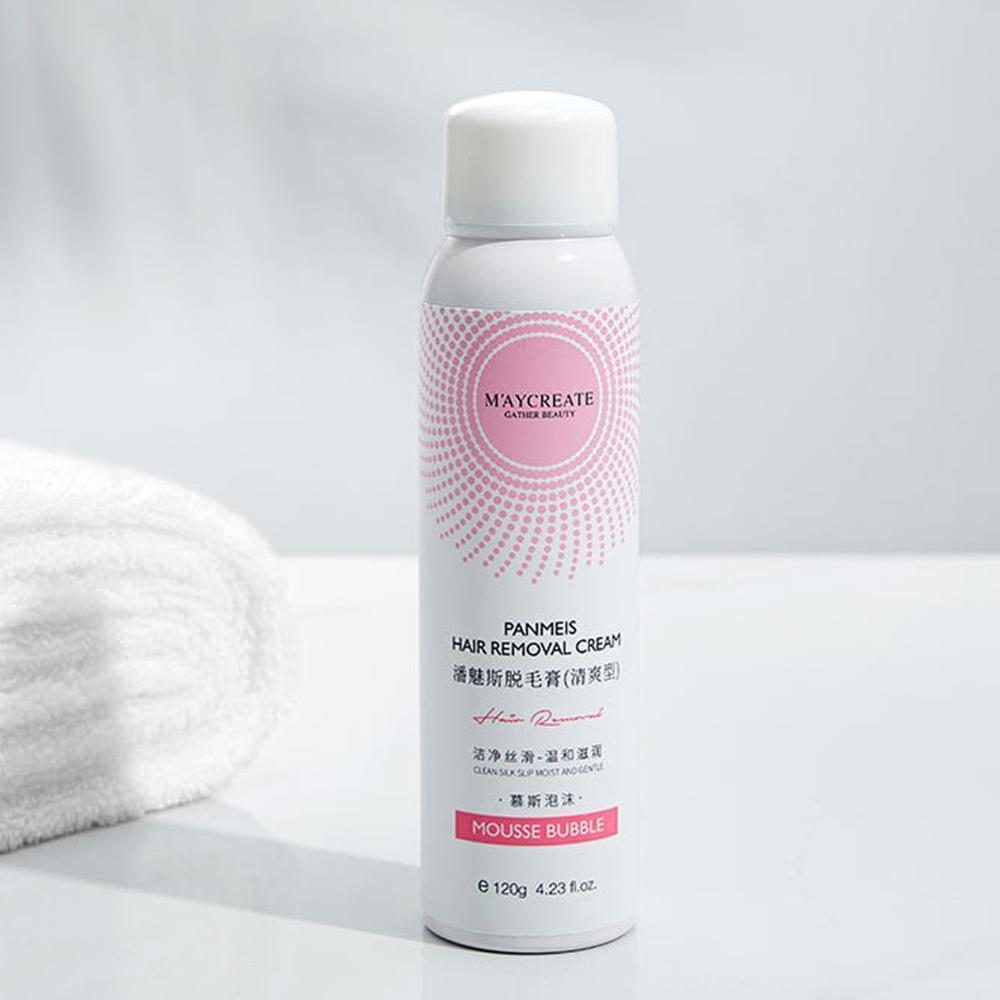 Natural Painless Hair Removal Spray Hair Remover 120g Foam Depilation Spray For Men Women
