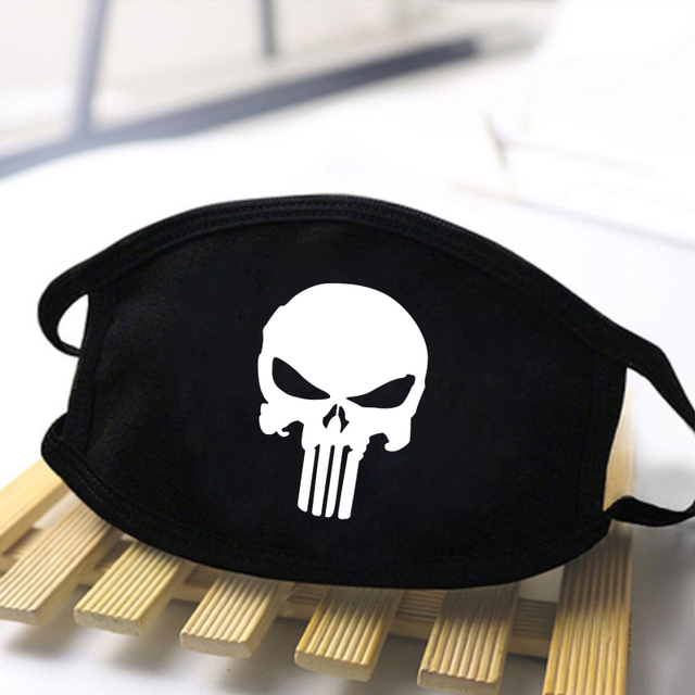 Fashion Skull Printed Unisex Mouth Mask 2020 Black Casual Masks Mouth Half Muffle Face Mask Kpop High Quality Skin Friendly Mask 3