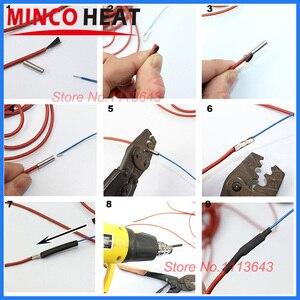 Image 5 - 100m Infrarot Heizung Kabel 12K 33ohm/m Silikon Carbon Faser Heizung Draht für Warmen Boden mit Temperatur controller Thermostat