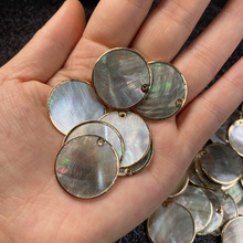 1Pcs Natural Mother of Pearl Shell Pendant Round Shells Charms Pendants for DIY Jewelry Making Necklace Earrings Accessories 2020 natural shells pendants charms for jewelry making necklace pendant diy bracelet necklaces accessories size 20x32mm
