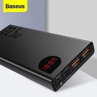 Baseus 20000 mah banco de potência usb c pd carga rápida 3.0 5a scp powerbank para huawei xiaomi iphone portátil carregador de bateria externa|Baterias Externas| |  -