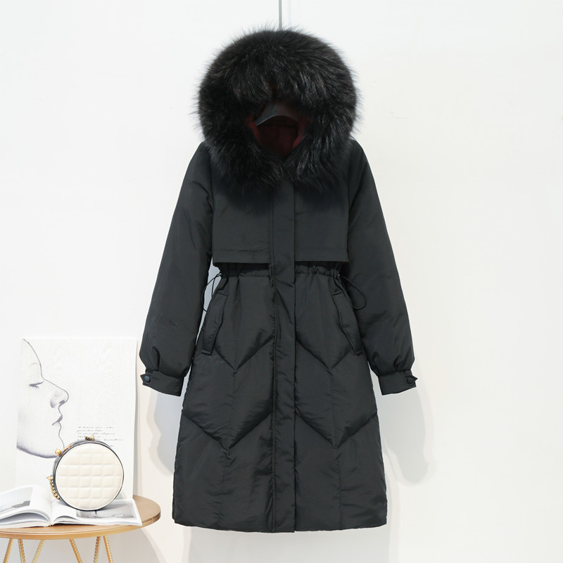 2019 Brand Winter White Duck Down Jacket Women Long Down Parka Thick Warm Down Coat Female Outwear Jackets Hiver LW1624