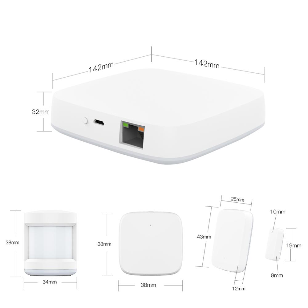 Tuya Zigbee Smart Gateway Hub Home Automation Scene Security Alarm Kit