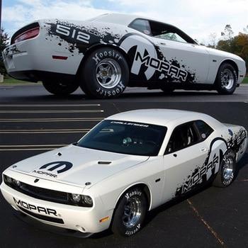 Racing Sticker For Dodge Challenger Body Exterior Decoration Modified Sticker Pull Flower Stripe Film