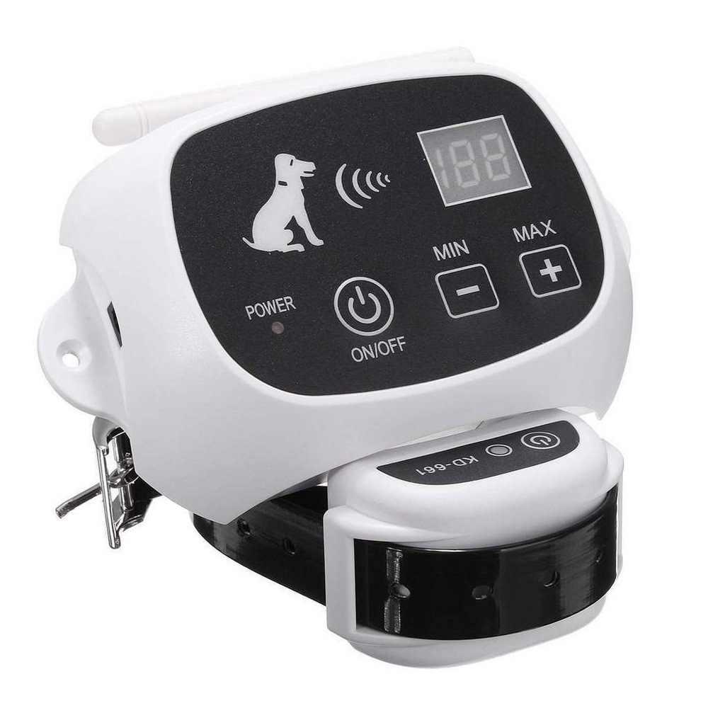Système de clôture de chien à distance sans fil étanche Pet 0-100 niveau dispositif de clôture électronique collier de dressage de chien choc électrique