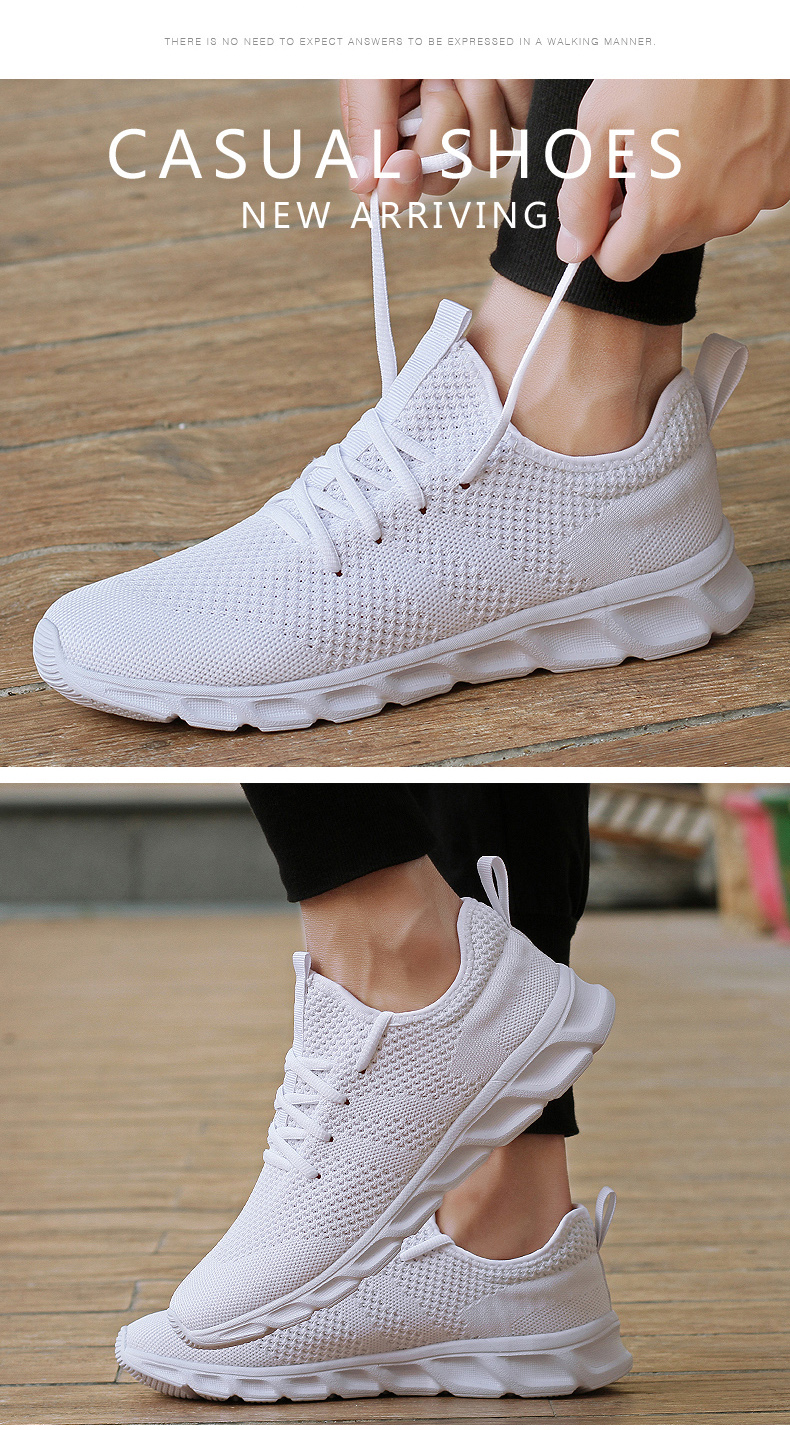 H70fc0d8832ab4ae8a89f6b3f40d6e8504 Men Light Running Shoes Flyknit Breathable Lace-Up Jogging Shoes for Man Sneakers Anti-Odor Men's Casual Shoes Drop Shipping