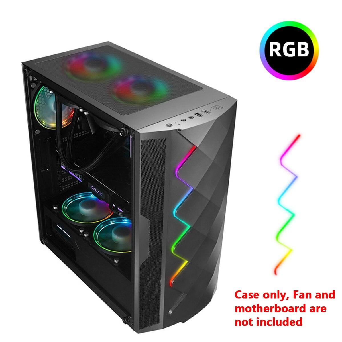 S SKYEE concours électrique boîtier PC verre trempé avec lumière rvb Support de carte graphique ATX/MATX/ITX Support refroidissement à l'eau 8 ventilateurs