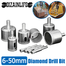Diamond Core Drill Bits Set Hole Saw Opener for Glass Tile Marble Concrete Ceramic 6-50 mm Diamond Coated Drill Bit Power Tools