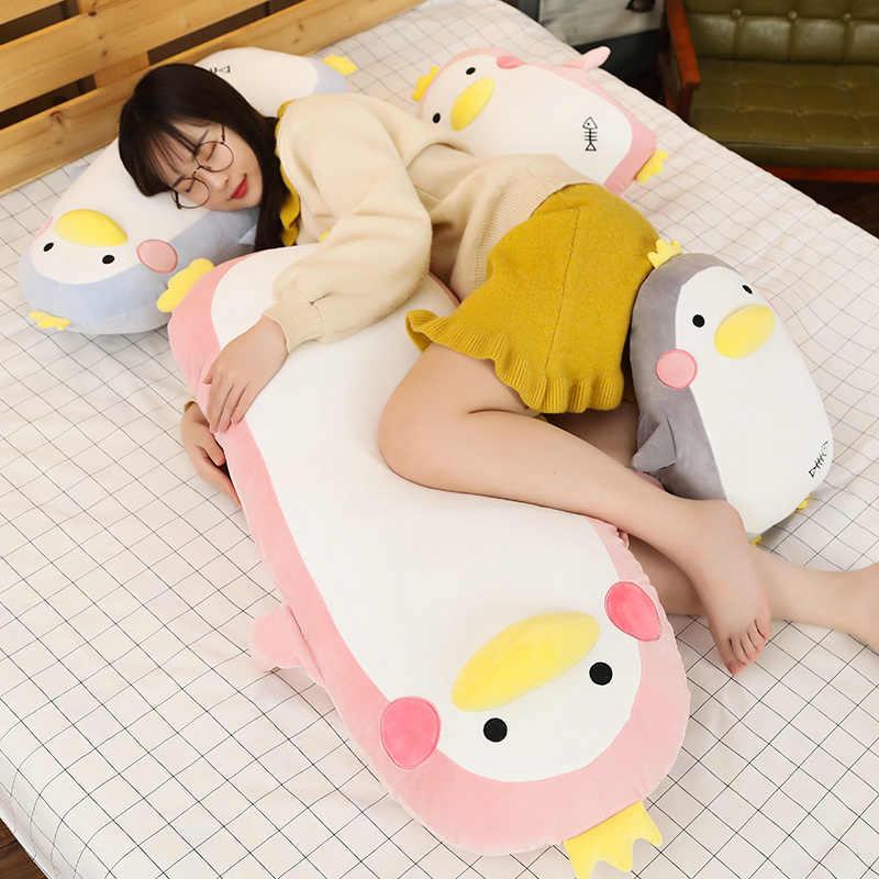 Baru Panas 45 Cm/70 Cm/100 Cm Hewan Mewah Mainan Boneka Penguin Hewan Tangan Hangat Bantal Pacar panjang Besar Lembut Bantal Bantal Hadiah