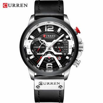 Curren Quartz Watches silver black watch