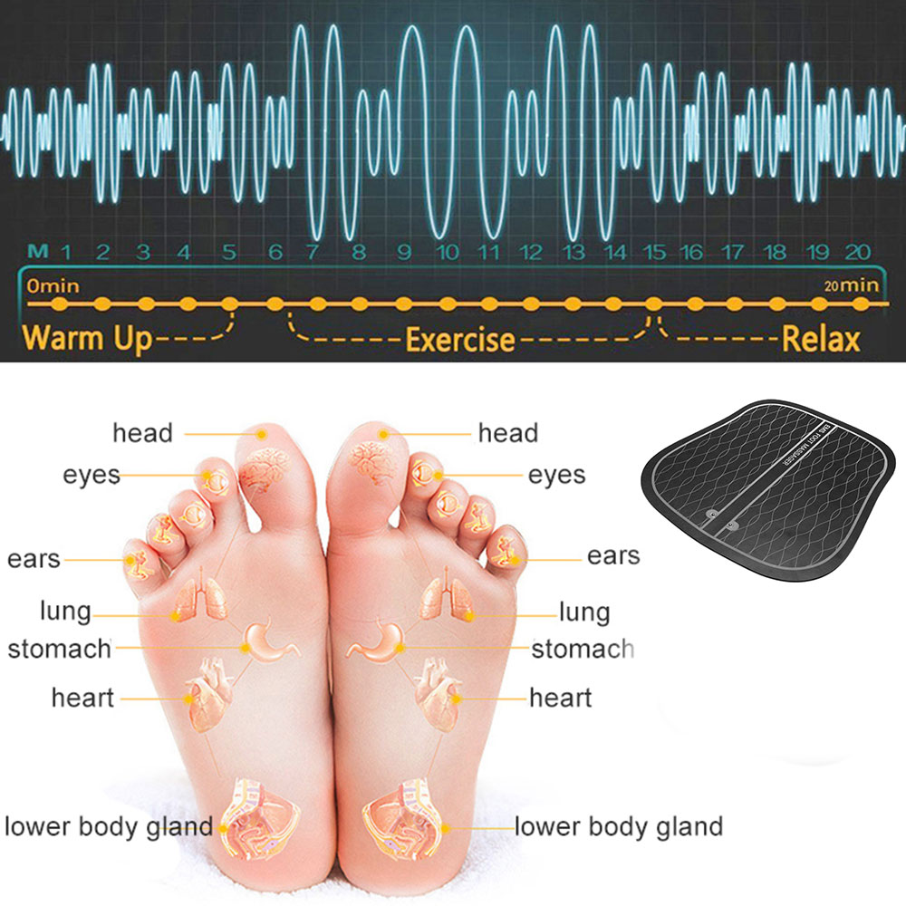Image 4 - Electric EMS Foot Massager ABS Physiotherapy Revitalizing Pedicure Tens Foot Vibrator Wireless Feet Muscle Stimulator Unisexaid kitfirst aid kitemergency bag -