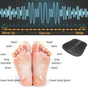 Image 4 - Masajeador eléctrico EMS para pies, masajeador de fisioterapia ABS revitalizante para pedicura Tens, vibrador pies inalámbrico Estimulador muscular Unisex