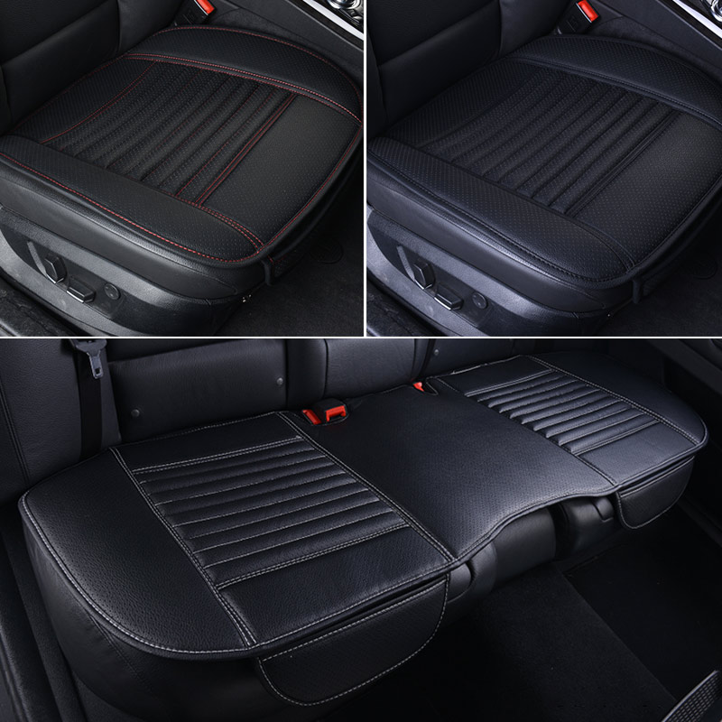 Image 5 - Leather Car Seat Covers Waterproof Universal Seat Protector for Automobiles Car Seat Cushion Set Mat Auto Accessories BreathableAutomobiles Seat Covers   -