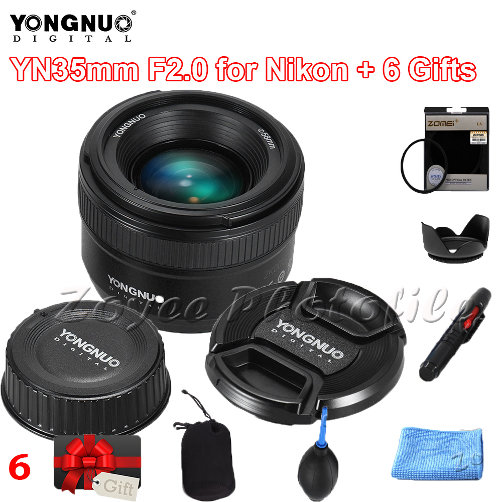 <font><b>YONGNUO</b></font> Lens YN35mm F2N f2.0 Lens Wide-Angle AF/MF Fixed Focus Lens for <font><b>Nikon</b></font> F Mount D7200 D7100 D7000 D5300 D5100 D3300 YN35mm image